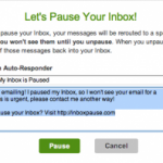 Inbox Pause: ¡basta de e-mails! (por un rato)