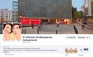 Informer Blanquerna Comunicació - Facebook
