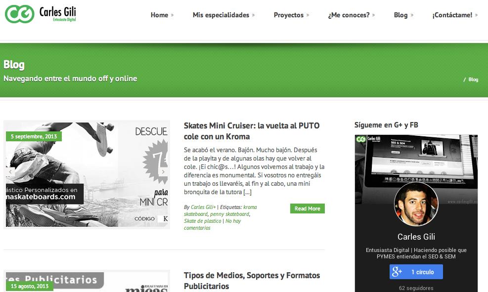 Carles Gili - Web Blog