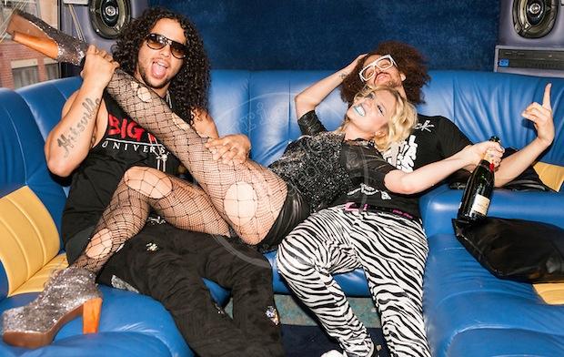Ke$ha & LMFAO | © Jason Sheldon